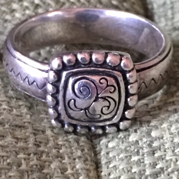 Brighton Jewelry - Brighton Scroll Sterling Silver 925 Ring Size 8